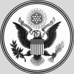 The obverse side of the great seal of the USA