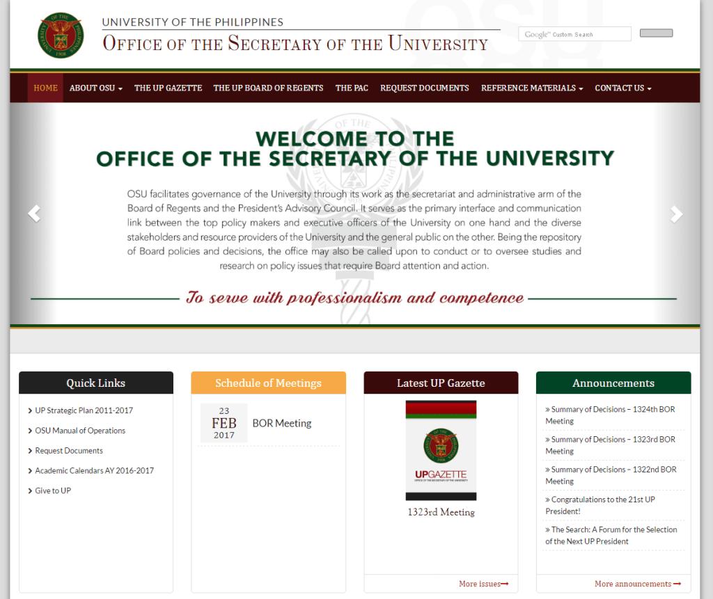 OSU website
