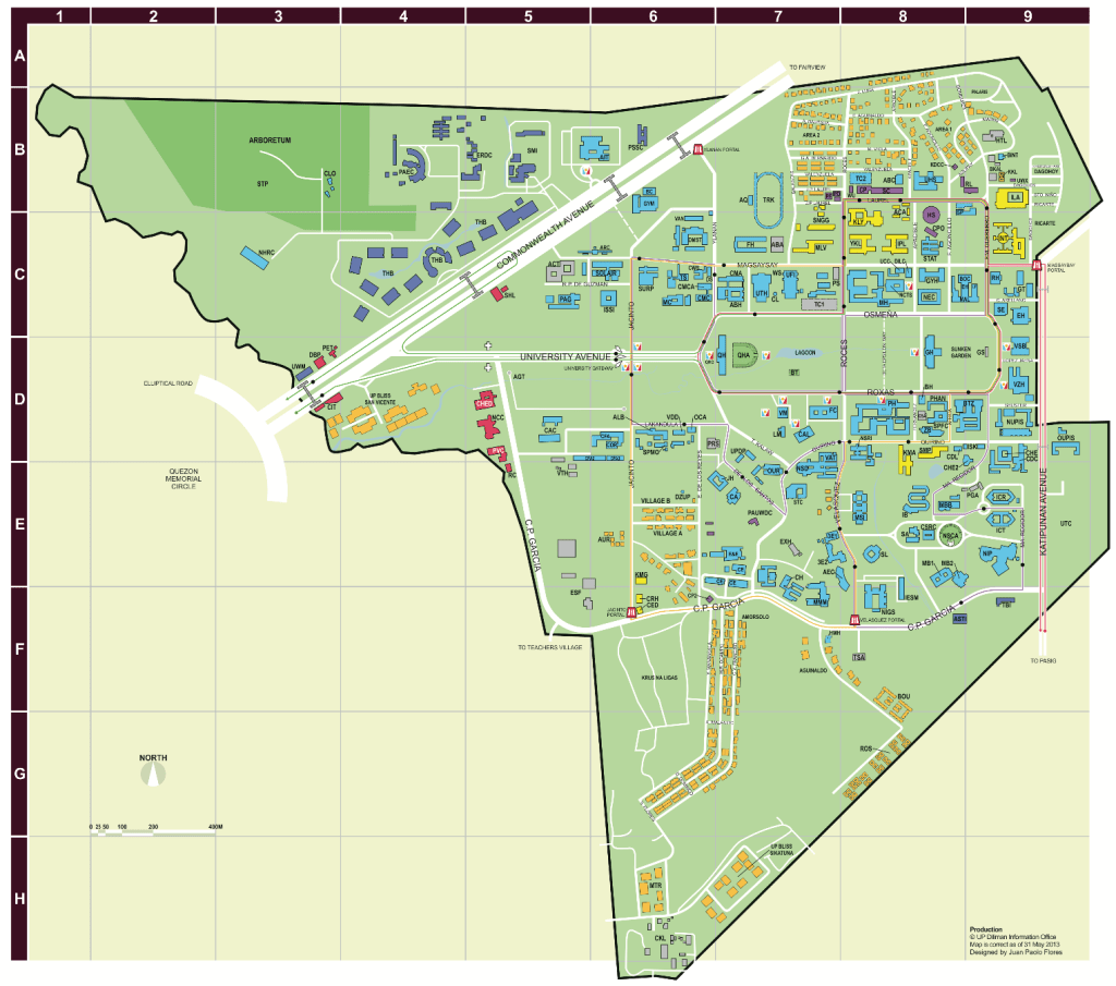 UP Diliman map