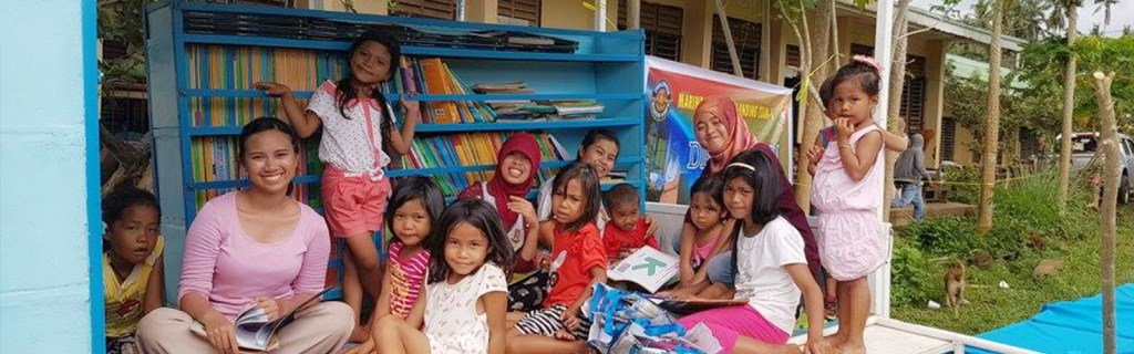 Promoting tolerance through books and education banner