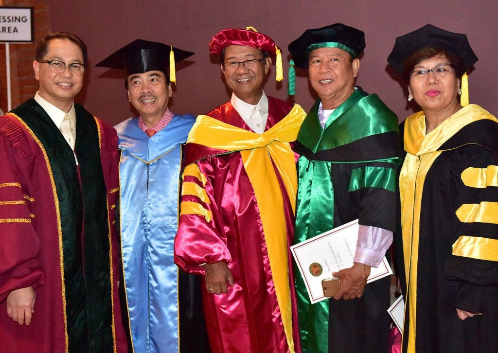 President Concepción (far left) with academic leaders of other Philippine universities (Photo by Bong Arboleda, UP MPRO)