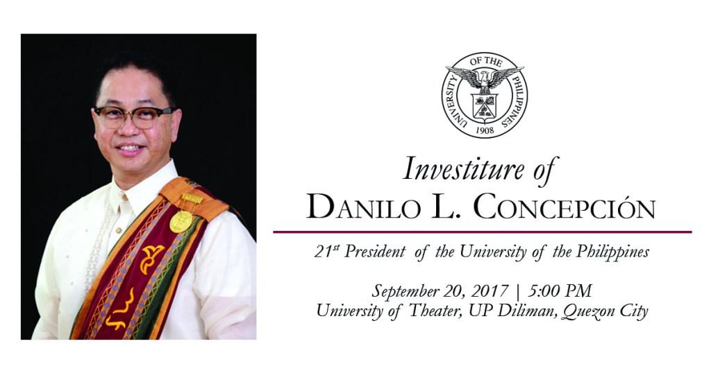 UP President's investiture set for Sept. 20