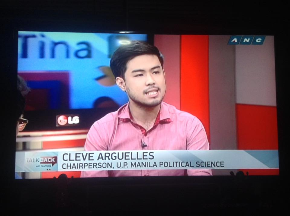 Prof. Arguelles in an interview at ANC's Talkback