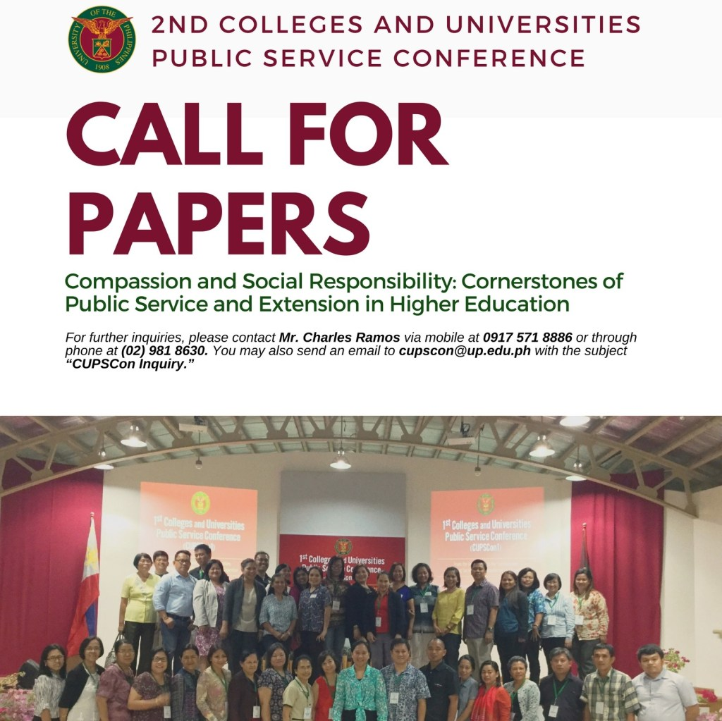 The 2nd Colleges and Universities Public Service Conference