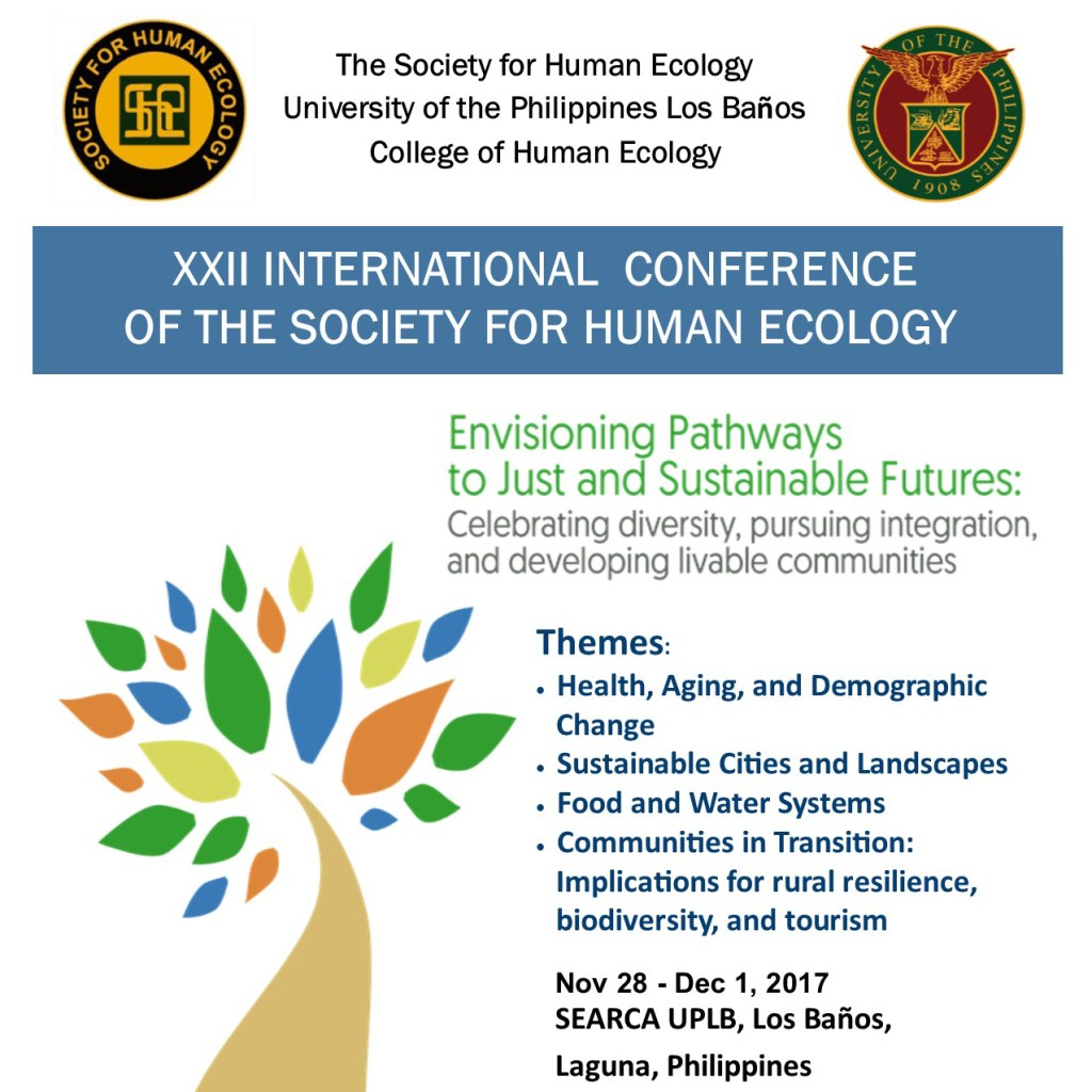 The University of the Philippines Los Baños is pleased to announce the upcoming XXII SHE 2017 International Conference on November 28 to December 1, 2017.