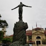 UP Manila Oblation in front of the PGH. (Photo by Jun Madrid, UP MPRO)