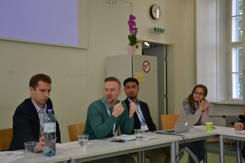 A panel discussion with fellow foreign classmates