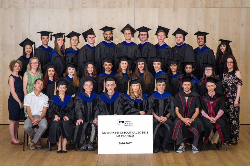 Prof. Arguelles with his graduating class in Central European University in Hungary