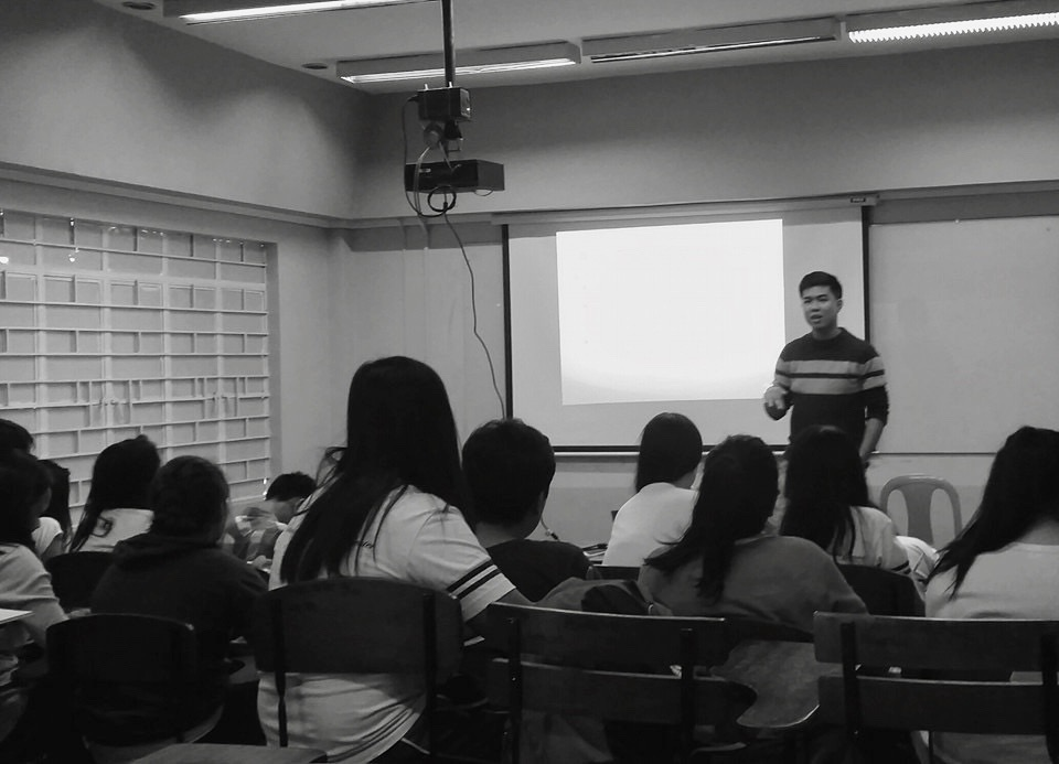 A political science class with Prof. Arguelles in UP Manila