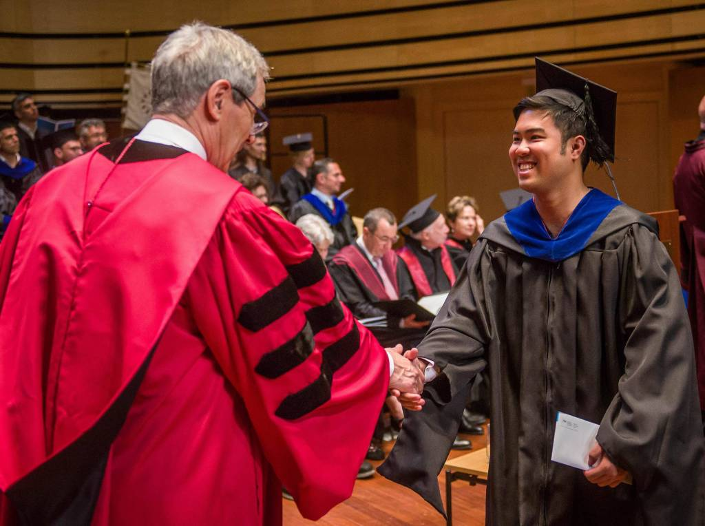 Prof. Arguelles receives his diploma in Central European University