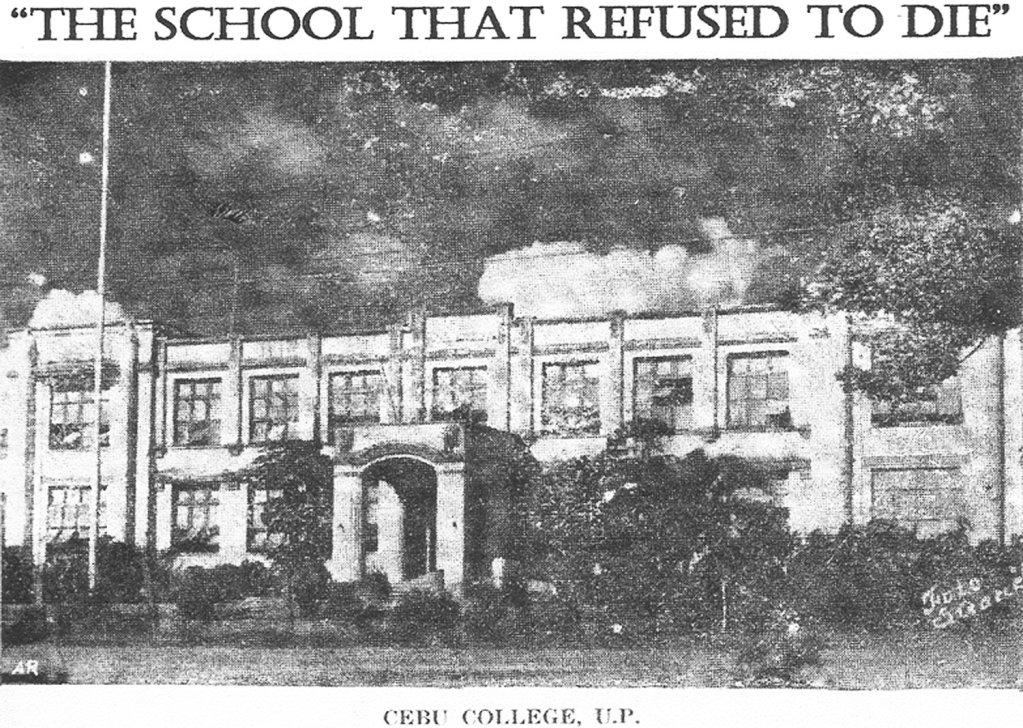 An old photo of Cebu College, UP, taken from Dr. de la Cerna's presentation.