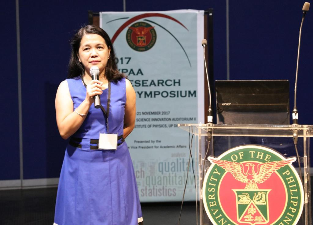 UP Assistant Vice President for Academic Affairs Carla Dimalanta (Photo by Misael Bacani, UP MPRO)