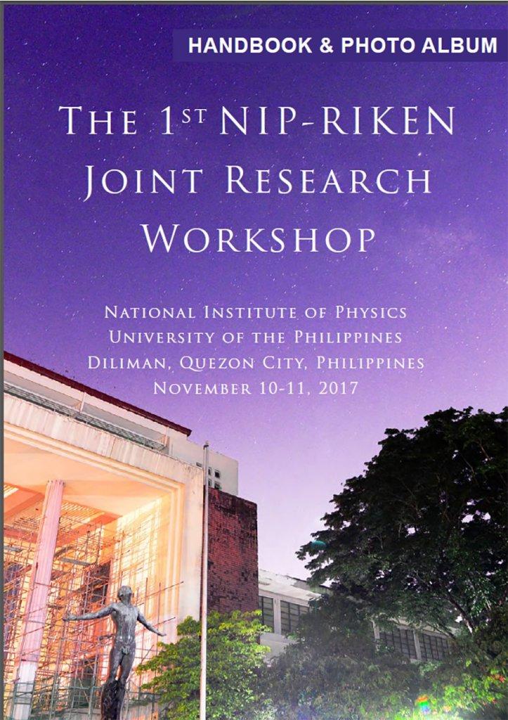 1st NIP-RIKEN Joint Research Workshop