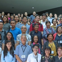 Guests and presenters at the Symposium pose for a group photograph. (Photo by Misael Bacani, UP MPRO)