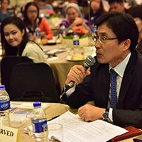 ASEAN-Korea Centre Secretary General Young-Sun Kim, keynote speaker, also participates in an open forum of the 2017 Korea-Philippines/Korea-ASEAN Partnership Forum, Philippines. (Photo by Bong Arboleda, UP MPRO)