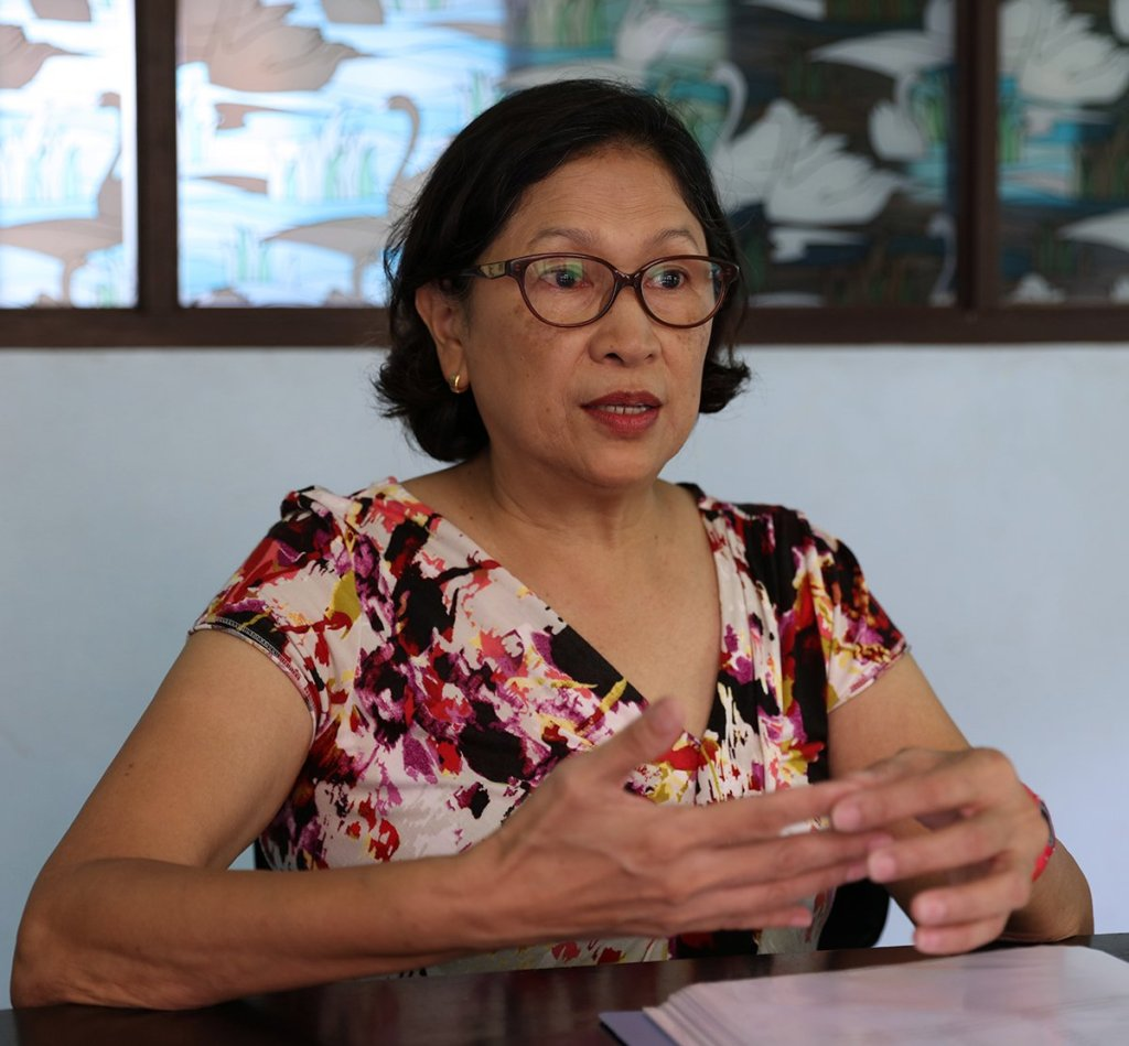 Ernestina Peralta says the country produces oysters in high volume. (Photo by Misael Bacani, UP MPRO)