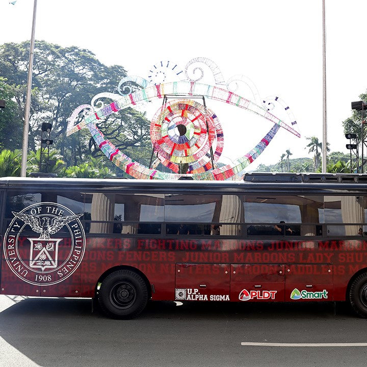 The not-so-new but definitely improved bus for UP athletes. Donated by Alpha Sigma in 2008, it was recently sent for repairs and renovation by the fraternity to ensure more years of service for the athletes. (Photo by Misael Bacani, UP MPRO)