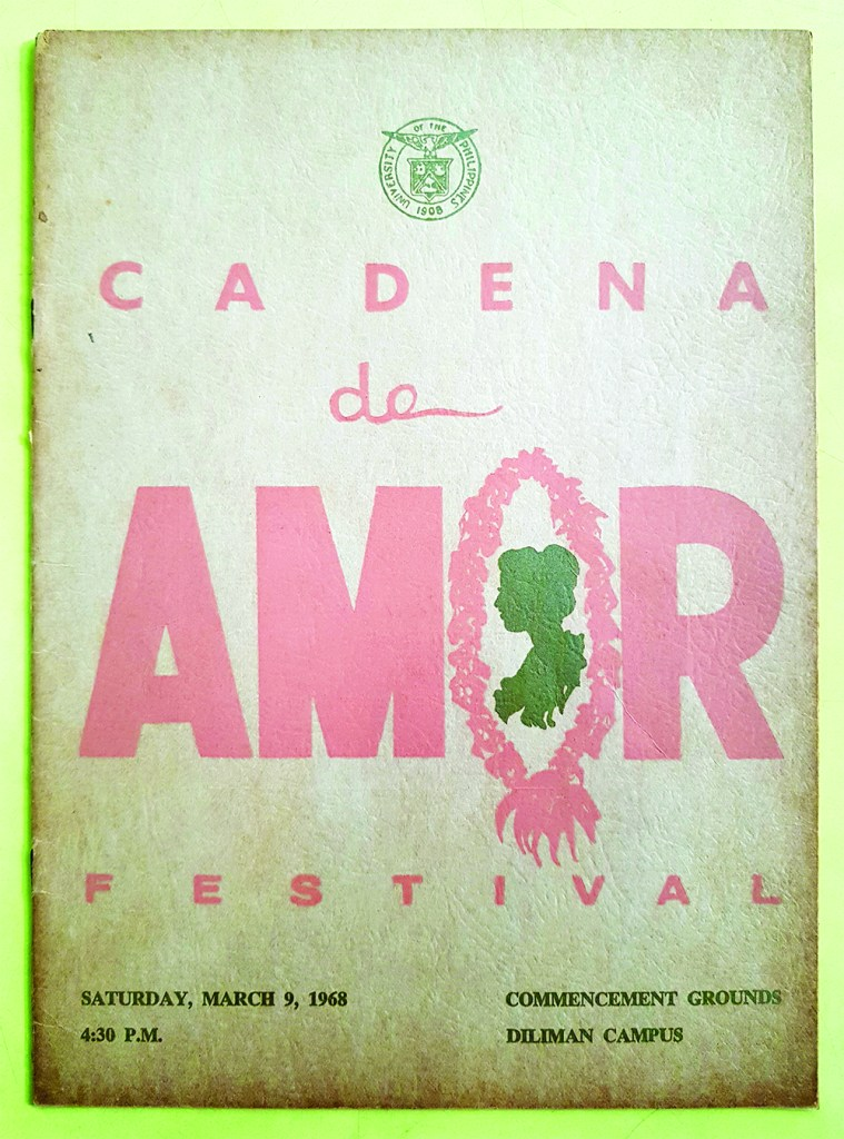 the souvenir program of the last Cadena de Amor on 09 March 1968