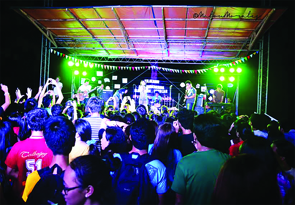rocking the night away during the UPVTC Org Fair 2014