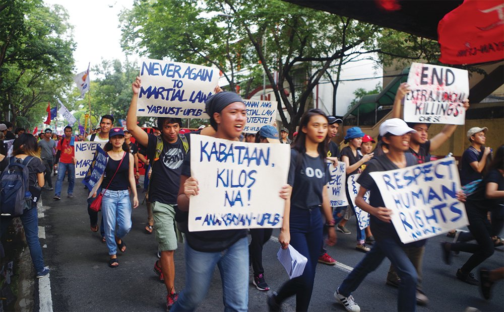 Rally against tyranny at PNU-Taft, Sept. 21, 2017 (Photo from UP MPRO)