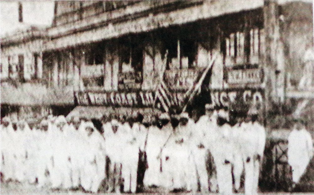 UP students hold a demonstration against the Manila Times in one of the first protests in UP. Photo from The University of the Philippines: A University for Filipinos (Feliciano, 1984)