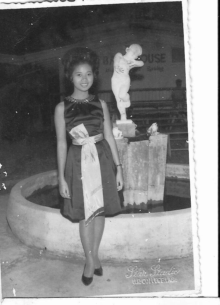 To save for this party dress, Mimi Cortez joined students at the Women's Dorm cooking their food for a month. (Photo courtesy of Prof. Mimosa Cortez-Ocampo)