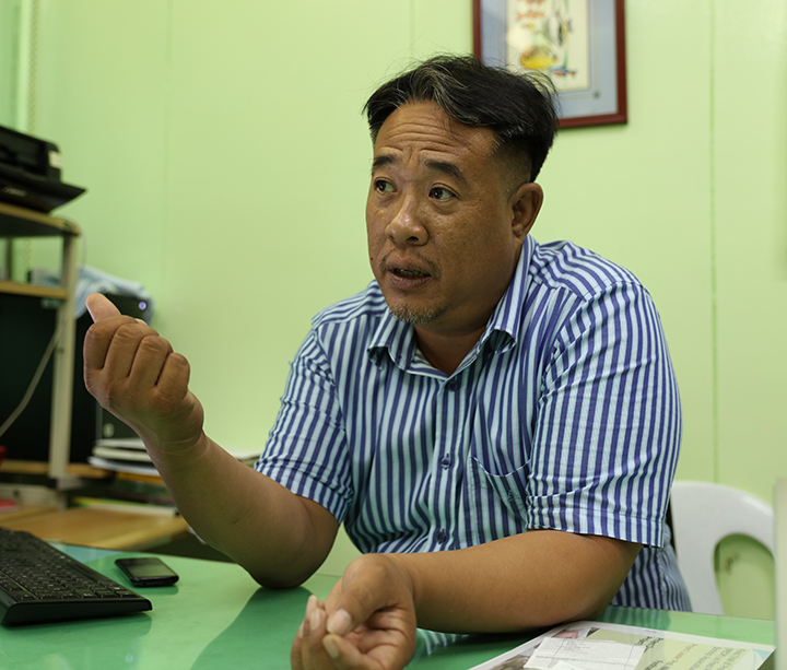 Institute of Aquaculture Director Rex Ferdinand Traifalgar of the UP Visayas College of Fisheries and Ocean Sciences (Photo by Misael Bacani, UP MPRO)