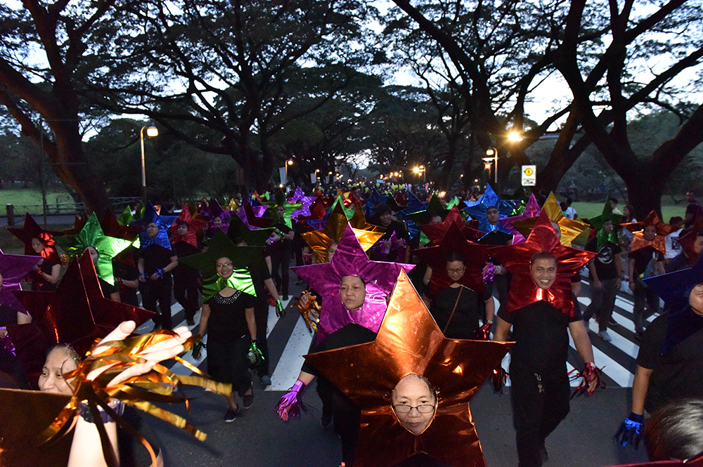 The starry contingent from the UP Diliman administration. (Photo by Bong Arboleda, UP MPRO)