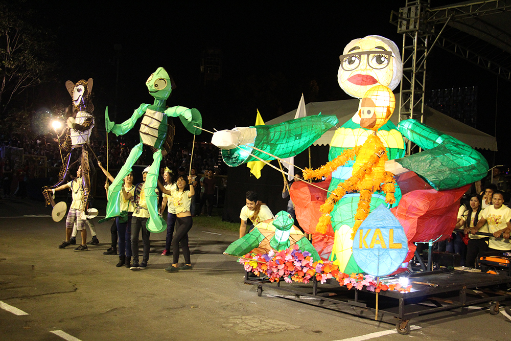 The winning lanterns of the College of Arts and Letters, inspired by the puppetry of Amelia Bonifacio. (Photo by Jun Madrid, UP MPRO)