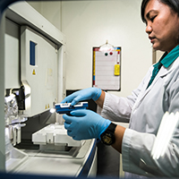 The DNA Analysis Laboratory's (DAL) Jazelyn Salvador. (Photo courtesy of the DAL)