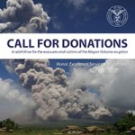 Mayon Volcano relief drive