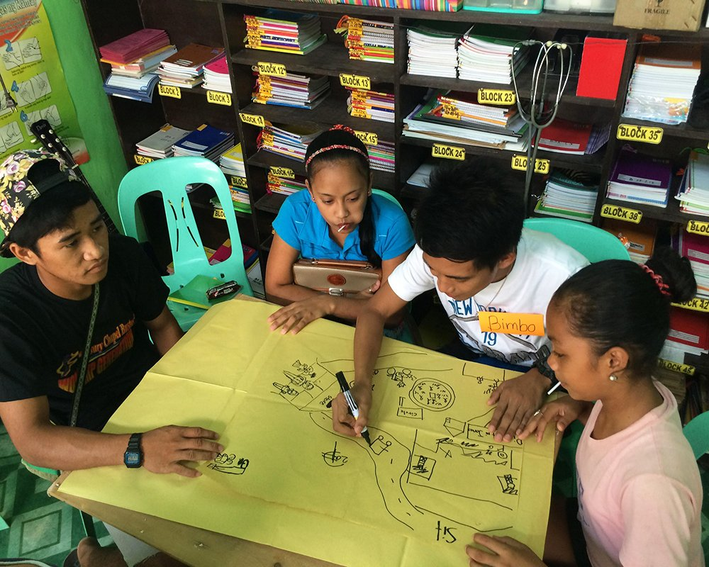 Fieldwork in Bustos, Bulacan (Photo courtesy of Venus Raj)