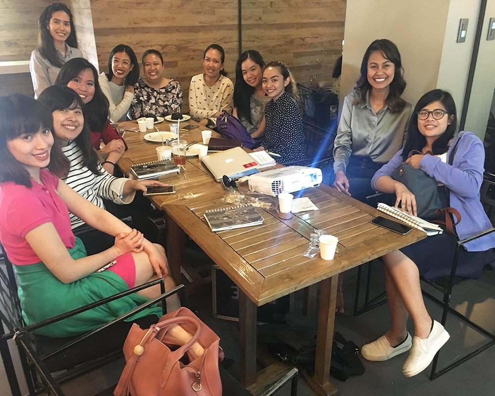 Venus Raj with her CCF mentoring group (Photo courtesy of Venus Raj)