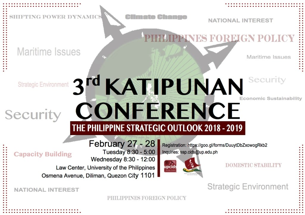 3rd Katipunan Conference: The Philippine Strategic Outlook