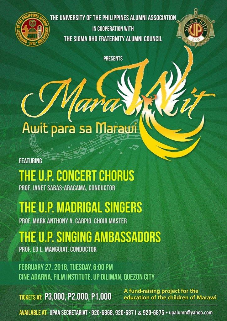 """UPAA Staging """"MarAwit… Awit para sa Marawi"""""""