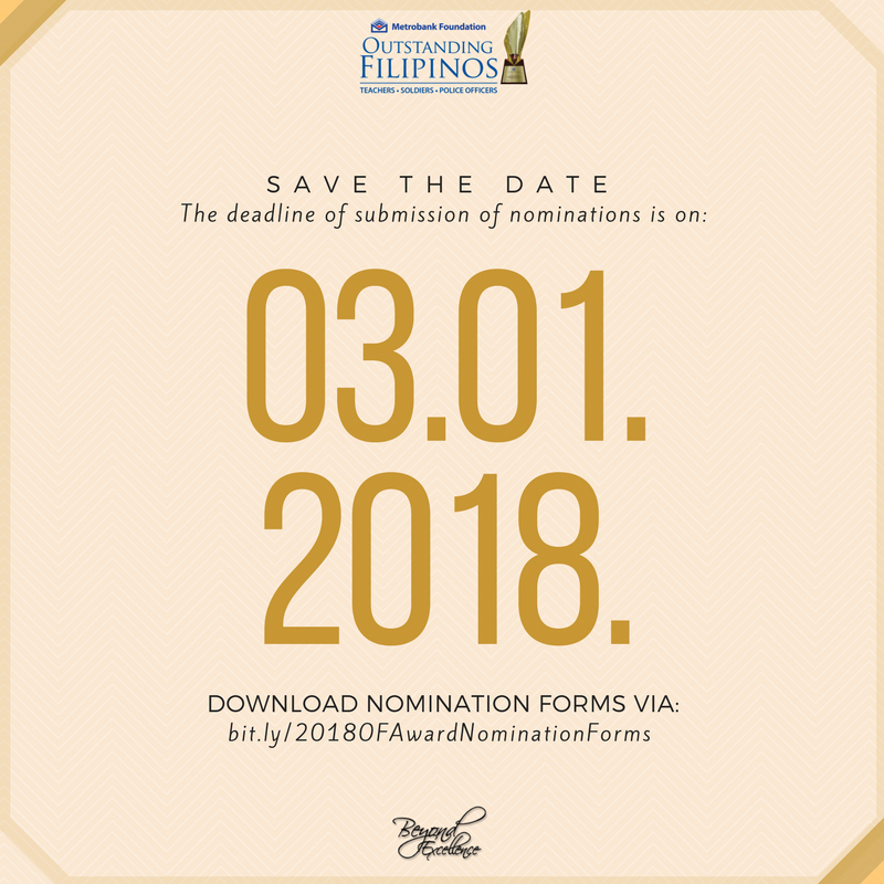 Metrobank Foundation 2018 Search for Outstanding Filipinos