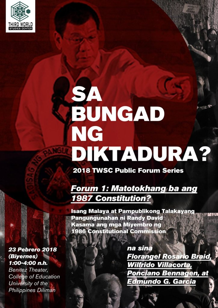 Sa Bungad ng Diktadura? Ang 2018 Third World Studies Center Public Forum Series