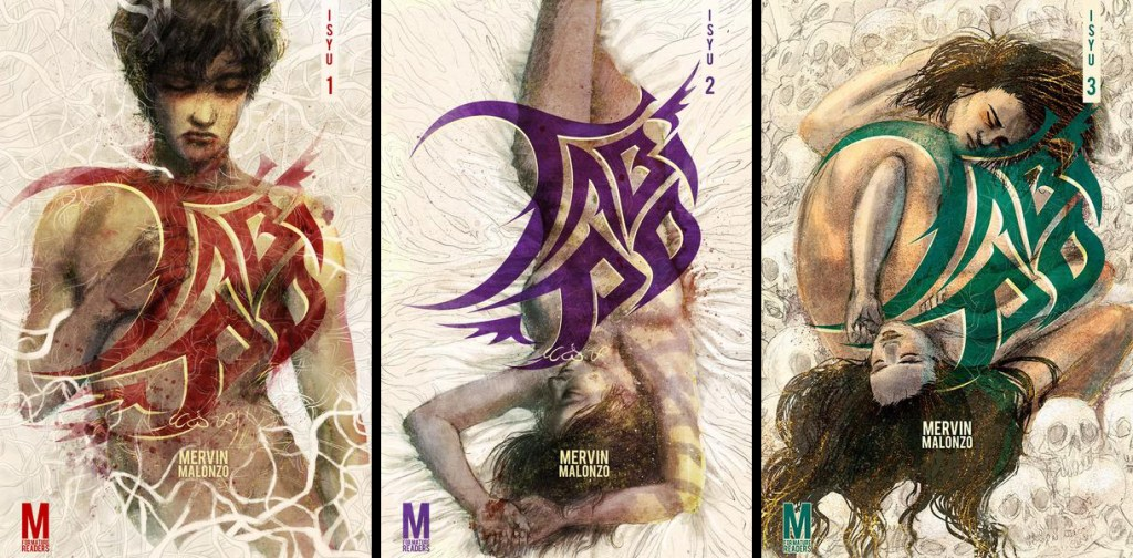 The first three issues of Tabi Po. (Photo from Mervin Malonzo's online store, www.mervstore.com.)