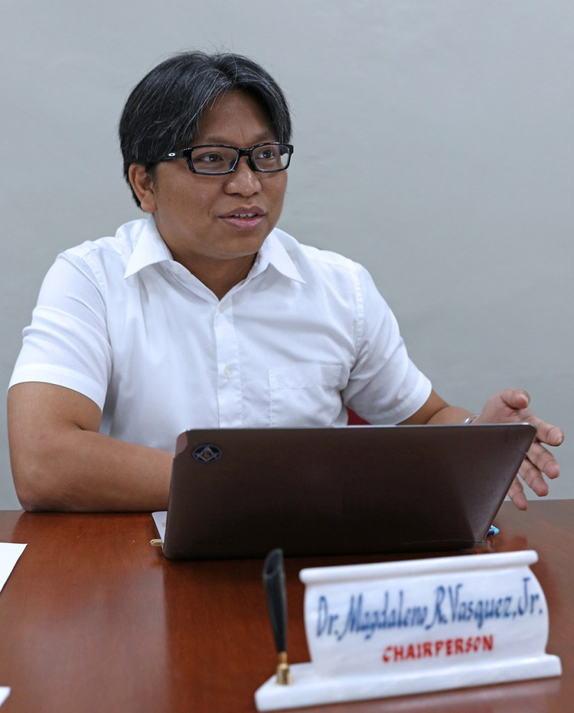 Dr. Jong Vasquez in his office as chairperson of the Department of Mining, Metallurgical, and Materials Engineering (Photo by Misael Bacani, UP MPRO)