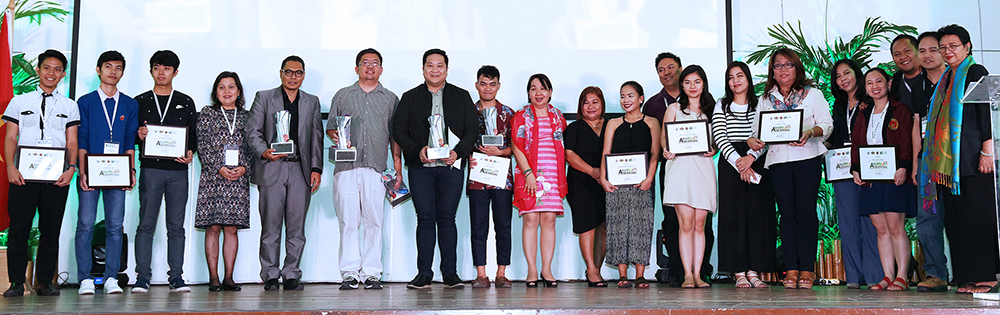 The winners and honorable mentions of the ASEANnale 2018 1st Film and Multimedia Competition (Photo by Misael Bacani, UP MPRO)