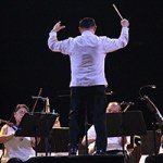 Maestro Herminigildo Ranera conducts the Philippine Philharmonic Orchestra in UP Diliman. (Photo by Jun Madrid, UP MPRO)