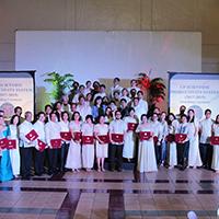 UP Scientists take to the stage at the Ang Bahay ng Alumni. (Photo by Jun Madrid, UP MPRO)