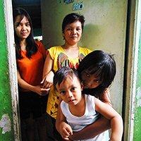 The Avila family, ID 179 beneficiaries in Gawad Kalinga, Matandang Balara, Quezon City