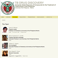 UP Manila's TB Drug Discovery Team (from http://dpsm.cas.upm.edu.ph/scholar/tb-drug-discovery/people)