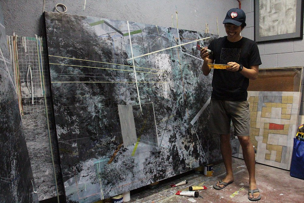 """""""My professor just asked me one question, what did I major in? And I said, painting. Then I rested my case."""" (Photo by Jun Madrid, UP MPRO)"""