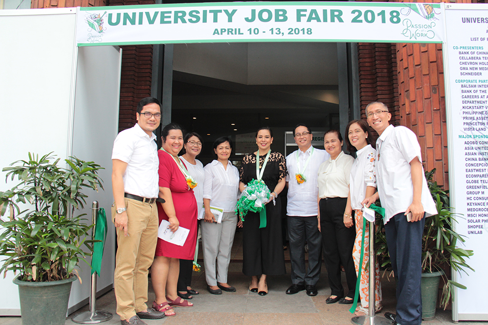 University of the Philippines officials during the opening of the University Job Fair 2018 at the Ang Bahay ng Alumni, UP Diliman, Quezon City on April 10, 2018. (Photo by Jonathan Madrid, UP MPRO)