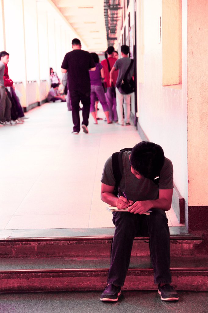 UP student. (Photo by Arlyn VCD Romualdo, UP MPRO)