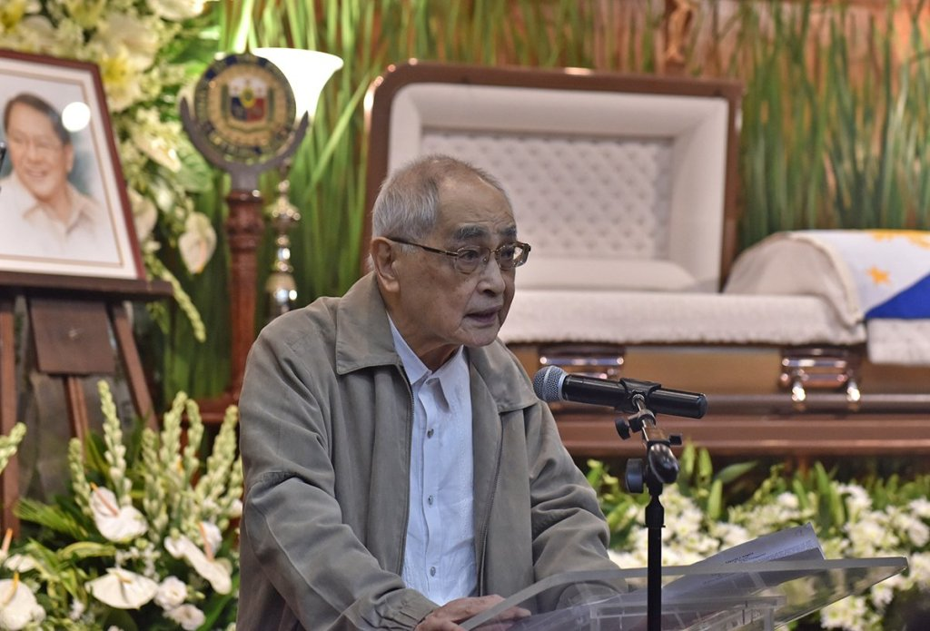 Atty. Teodoro Regala, one of the founding partners of the Angara Abello Concepcion Regala & Cruz Law Offices (ACCRALAW) and Angara's close friend and former classmate at the College of Law, says Angara always believed in the practice of law as public service. (Photo by Abraham Arboleda, UP MPRO)