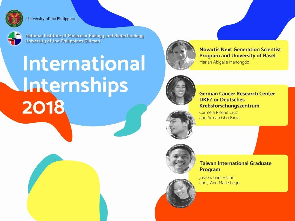 Five UP students awarded prestigious international research prize internships