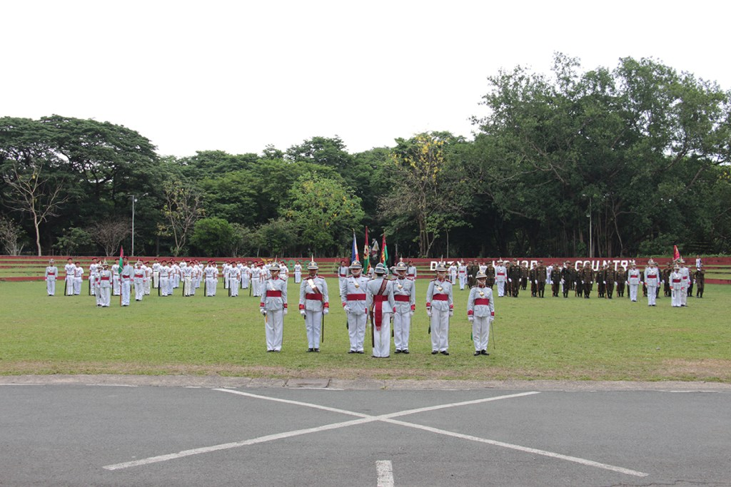 UP Diliman and UP Los Baños ROTC Units conducted their joint Turnover of Command and Testimonial Parade on May 5, 2018. (Photo by Jun Madrid, UP MPRO)